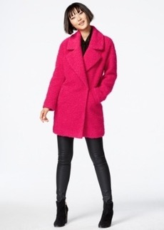 Betsey Johnson Boucle Asymmetrical Peacoat