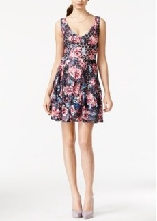 Betsey Johnson Bow-Back Floral-Print Fit & Flare Dress