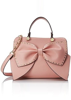 Betsey Johnson Bow Regard Satchel Handbag Top Handle Bag