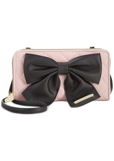 Betsey Johnson Bow Zip Wallet Crossbody