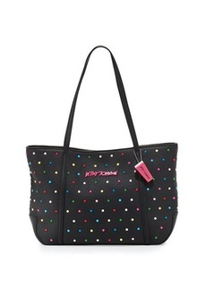 Betsey Johnson Candy Dots Faux-Leather Tote Bag
