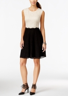 Betsey Johnson Cap-Sleeve Lace Dress
