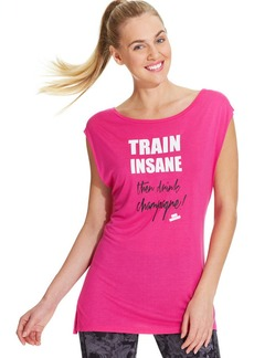 Betsey Johnson Cap-Sleeve Train Insane Tee