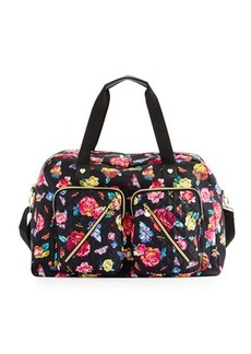 Betsey Johnson Cargo Floral Nylon Weekender Bag