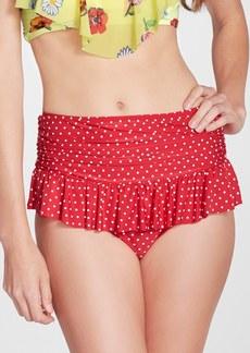 Betsey Johnson 'Caroline No' Polka Dot High Waist Bikini Bottoms