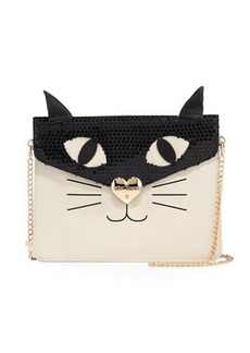 Betsey Johnson Cat Faux-Leather Clutch Bag