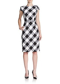 Betsey Johnson Checked Sheath Dress