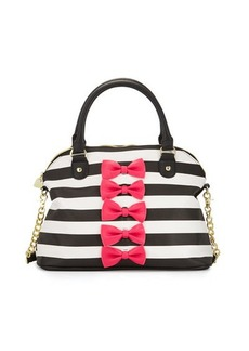 Betsey Johnson Chic Bows Dome Satchel Bag
