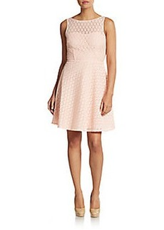 Betsey Johnson Circle Lace Illusion Top Dress