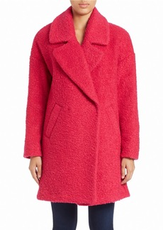 BETSEY JOHNSON Collared Boucle Jacket