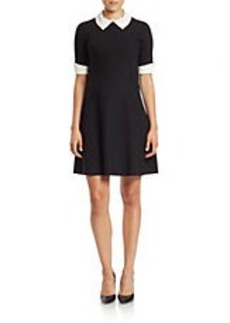 BETSEY JOHNSON Collared Fit-and-Flare Dress