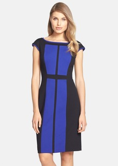 Betsey Johnson Colorblock Ponte Sheath Dress