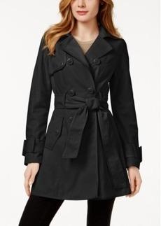 Betsey Johnson Corset-Back Skirted Trench Coat