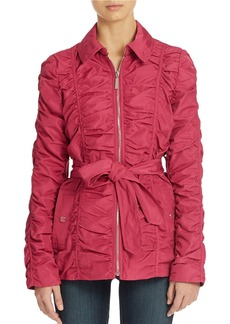 BETSEY JOHNSON Crinkle Zip Front Jacket