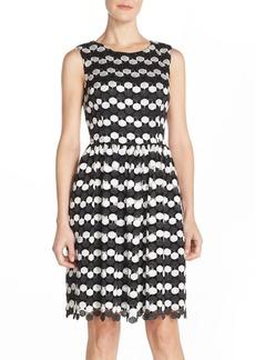 Betsey Johnson Crochet Lace Fit & Flare Dress