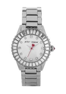 Betsey Johnson Crystal Bezel Bracelet Watch, 36mm