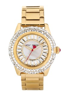 Betsey Johnson Crystal Bezel Bracelet Watch, 41mm