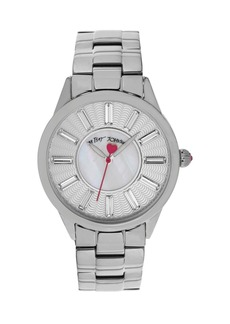 Betsey Johnson Crystal Index Bracelet Watch, 40mm