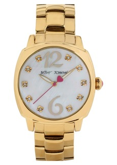 Betsey Johnson Crystal Index Bracelet Watch, 41mm