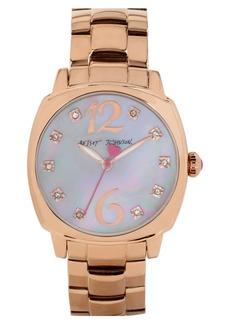 Betsey Johnson Crystal Index Bracelet Watch, 41mm