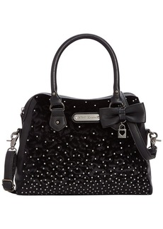 Betsey Johnson Crystal Love Dome Satchel