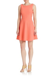 BETSEY JOHNSON Cutout Back Fit And Flare Dress