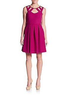Betsey Johnson Cutout Pleated A-Line Dress