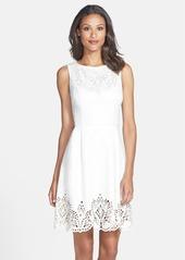 Betsey Johnson Cutout Stretch Fit & Flare Dress
