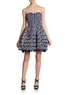 Betsey Johnson Ditsy Dotted Fit-And-Flare Dress