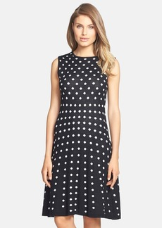 Betsey Johnson Dot Knit Fit & Flare Dress
