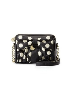 Betsey Johnson Dots Bow Crossbody Bag