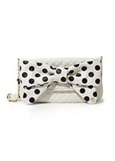 BETSEY JOHNSON Dots Enough Quilted Clutch