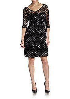 Betsey Johnson Dotted Lace Illusion Dress