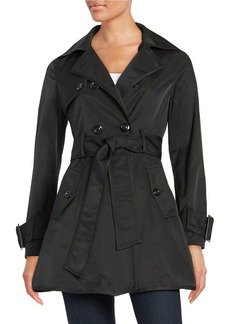 BETSEY JOHNSON Double-Breasted Trench Coat