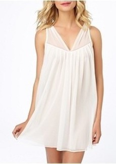 Betsey Johnson Double-Layer Tricot Chemise Plus Size