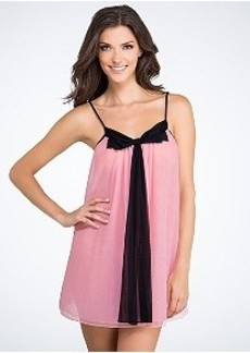 Betsey Johnson Double-Layer Tricot Chiffon Chemise