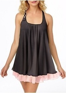 Betsey Johnson Double Layer Tricot Mesh Chemise