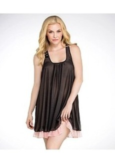 Betsey Johnson Double Layer Tricot Mesh Chemise Plus Size