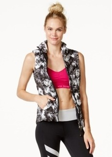 Betsey Johnson Down Print Puffer Vest