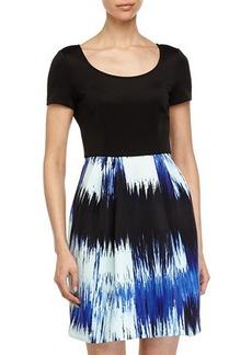 Betsey Johnson Dress w/ Floral-Print Skirt