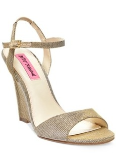 Betsey Johnson Duane Wedge Sandals Women's Shoes