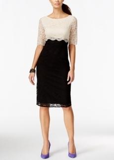 Betsey Johnson Elbow-Sleeve Lace Dress