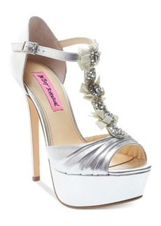 Betsey Johnson Elizabth Platform Evening Sandals Women's Shoes