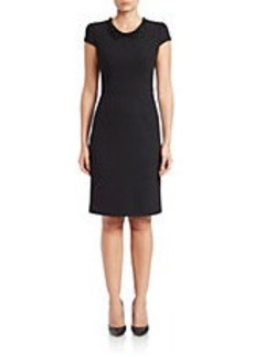 BETSEY JOHNSON Embellished Collar Sheath Dress