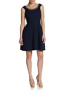 Betsey Johnson Embellished Fit-&-Flare Dress
