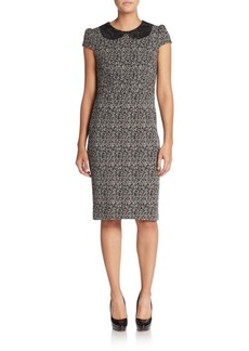 Betsey Johnson Embroidered-Collar Printed Dress