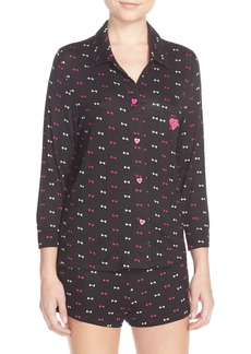 Betsey Johnson Embroidered Heart Pajamas