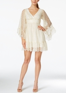Betsey Johnson Empire-Waist Lace A-Line Dress