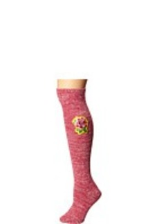 Betsey Johnson Everything'S Coming Up Rose Slubby Bootsock