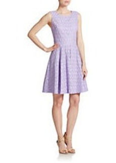 BETSEY JOHNSON Eyelet Fit and Flare Dress